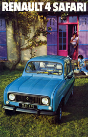 Couverture Brochure Renault 4 Safari 1976
