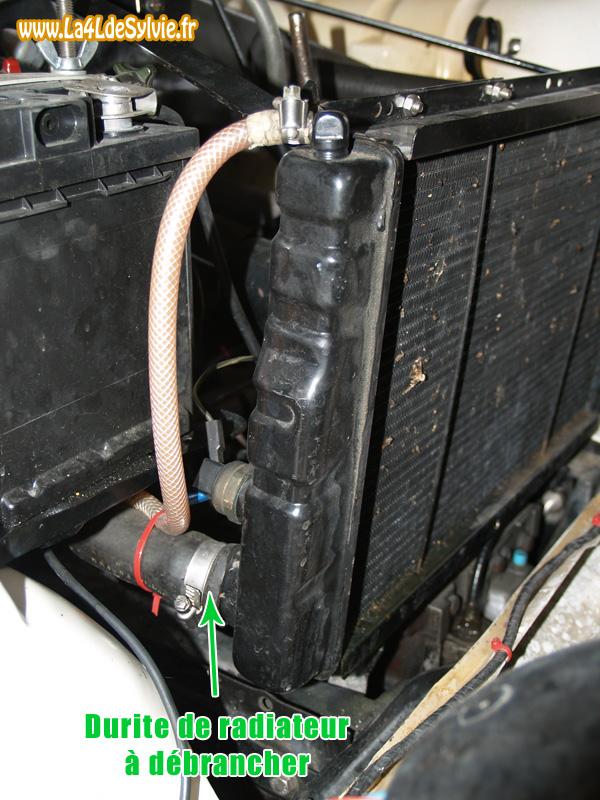 vidange et remplissage du liquide de refroidissement moteur cl on. Black Bedroom Furniture Sets. Home Design Ideas